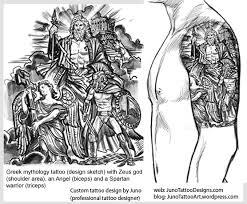 mythology tattoos designer in this epic style
