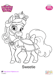 palace pets sweetie coloring page free printable coloring pages