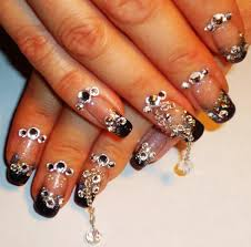 extra bling nail art design youtube