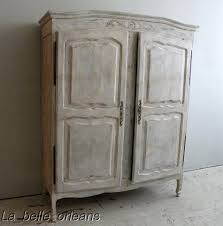 shabby french country two door armoire cabinet l k for sale
