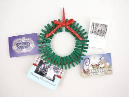 christmas card display holder christmas card wreath tutorial
