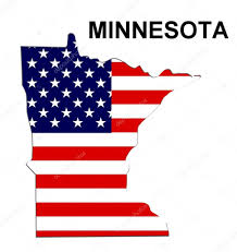 United States Map Clip Art by Usa State Map Minnesota U2014 Stock Photo Pdesign 1768752