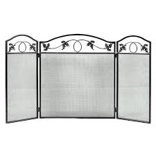 button fireplace screen home loft concepts oxford 3 panel iron