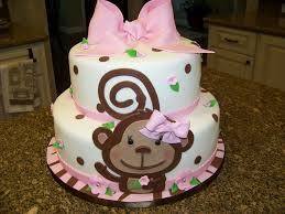 how to make a cake for a girl monkey themed baby shower cake for a baby girl cakecentral