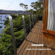 Wire Banister Cheap Ss Wire Mesh Railing For Balcony Find Ss Wire Mesh Railing
