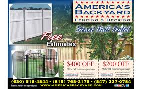 fence and deck promotions u0026 coupons america u0027s backyard