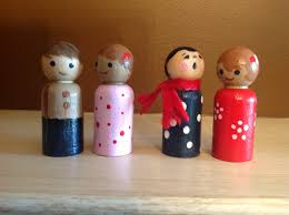 peg dolls i made for operation christmas child shoebox gifts