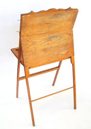 folding easel chalkboard desk lithograph scroll vintage art