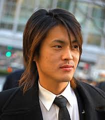 asian men long hairstyle long layered and razor cut mens hairstyle