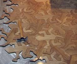 mc escher geometric reptile flooring