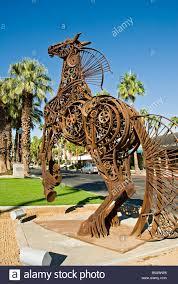 Home Decorators Art Palm Desert Ca El Paseo Drive Greenway Iron Horse Art Sculpture