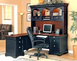 Black L Shaped Desk With Hutch Black L Shaped Computer Desk Hutch Design Best With U By Office