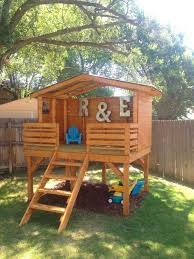 Best  Backyard Fort Ideas On Pinterest Tree House Deck Kids - Backyard fort designs