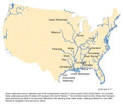 Map Of The United States With Rivers by Navigable Inland Waterways Global Climate Change Impacts In The