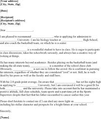 download college recommendation letter for free tidyform