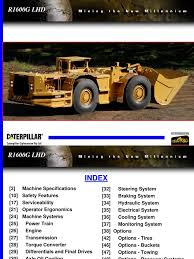 caterpillar r1600g lhd transmission mechanics axle