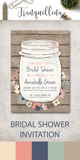 jar bridal shower invitations bridal shower invitations rustic designs agency