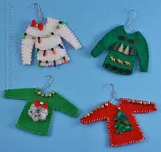 sweater ornaments crafts by amanda