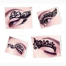 5pcs stylish eye makeup tattoos temporary eyeliner stickers for