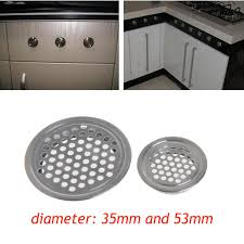 kitchen sink cabinet vent 1pc stainless steel wardrobe cabinet mesh air vent louver ventilation cover kitchen cabinet parts accessories dia 35 53mm