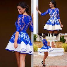 short a line homecoming dress 2017 half sleeve sheer jewel neck