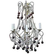 Crystal Beads For Chandelier Italian Chandelier With Clear And Amber Crystal Drops And Beads