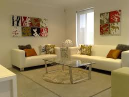 for unique living room decor with glass coffee table