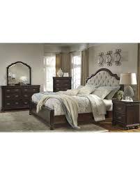 fall into savings on moluxy dark brown upholstered sleigh bedroom