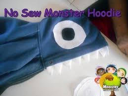 diy monster hoodie cheap and easy not just for halloween