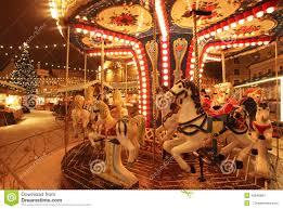 christmas carousel tallinn christmas market with carousel stock image image 45649897