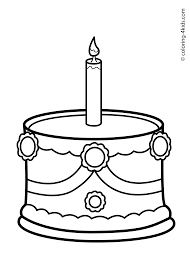 cake birthday party coloring pages for 1 year coloring pages