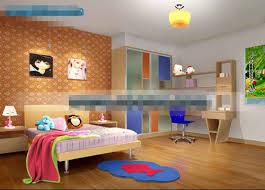 Childrens Bedroom Orange Lovely Childrens Bedroom 3d Model Free Download