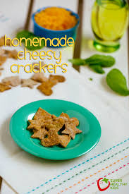 healthy thanksgiving treats for kids homemade cheesy crackers recipe alternative to goldfish crackers