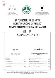 armor si鑒e social boletim oficial da região administrativa especial de macau