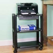 computer and printer table printer stands you ll love wayfair