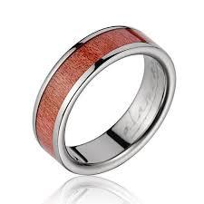 titanium wedding band pink ivory wood inlaid titanium wedding band king jewelry