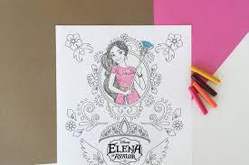 elena avalor coloring disney family