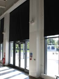 roller blinds in black out fabric colour in black and fabric covered bottom bar jpg