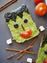 Halloween Food Ideas Frankenstein Avocado Toastvegan Chow Down
