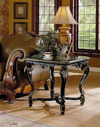 legends furniture end tables florentine end table in black gold eastern legends furniture