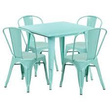 Teal Dining Table Distressed U0026 Industrial Style Dining Table Sets Hayneedle