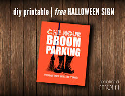 diy printable witch u0027s parking halloween sign