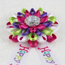 happy birthday ribbon birthday party decorations happy birthday corsage happy birthday
