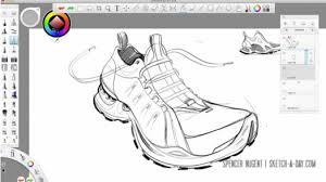 autodesk sketchbook pro u2013 shoe sketch by spencer nugent conceptkicks