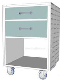 build a rolling work cart free and easy plans from https