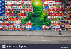 street art mural at houston and the bowery in new york city stock temper tot mural on houston street in new york city stock photo
