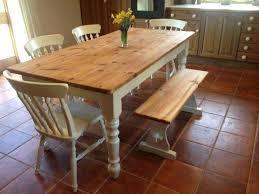 Country Kitchen Table Plans - farmhouse dining table set for sale farm diy kitchen plans