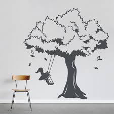 and tree swing wall decal
