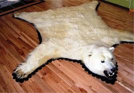 polar bear rug faux rug designs