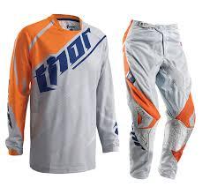 buy motocross gear new thor mx gear set phase vented grey orange motocross pants